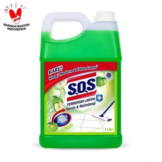 SOS Pembersih Lantai Jerigen Apple Wonder - Hijau [4 Liter]